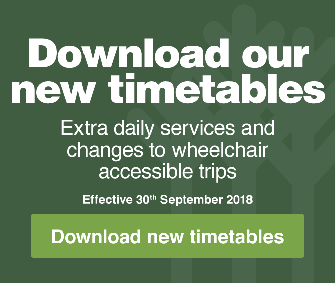 Download our new timetables